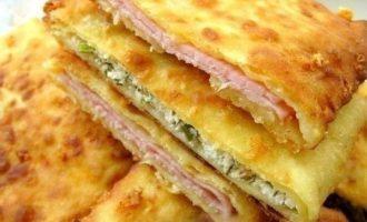 сырные лепешки с начинкой