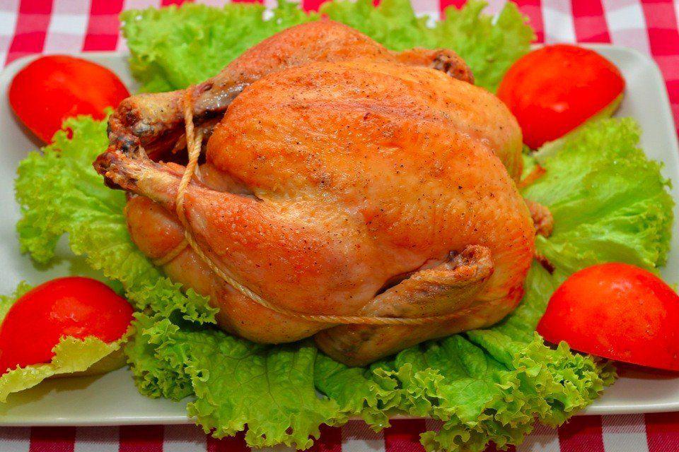 Курица,запеченная в духовке