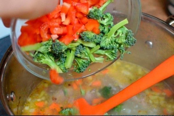 детский куриный суп с брокколи